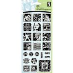 Celebrations Inchies Inkadinkado Clear Stamp Set